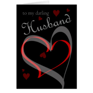 Valentine's Day Card For Husband Black With Rose