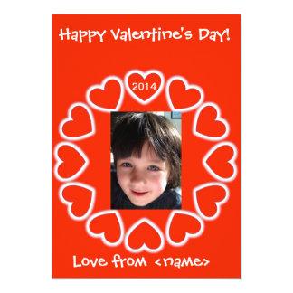 "Valentine's Day card for kids English & Spanish 5"" X 7"" Invitation Card"