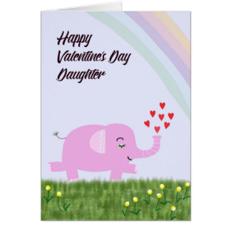 Valentine's Day Card for Young Daughter