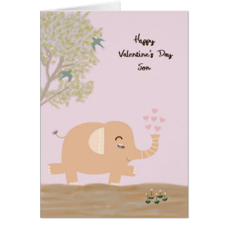Valentine's Day Card for Young Son