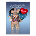 Valentine's Day Card - Humourous - Elephant