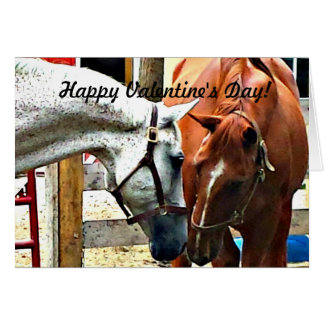 Valentine's Day Card with Horses