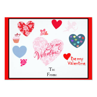 Valentine's Day cards for kids 13 Cm X 18 Cm Invitation Card