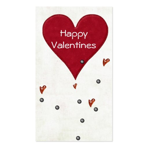Valentines Day Cards to hand out for Kids Business Card Template
