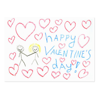 Valentines Day Cards to hand out for Kids Pack Of Chubby Business Cards