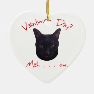 Valentine's Day Cat Meh Christmas Ornaments