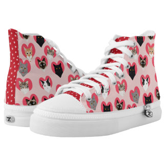 Valentines Day Cat Sneakers