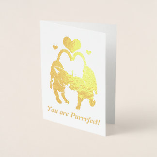 Valentine's Day Cats Foil Card