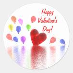 Valentines Day Celebration Round Sticker