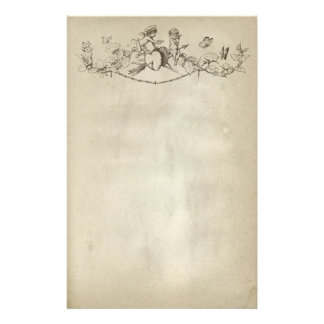 Valentine's Day Cherubs Stationery Paper