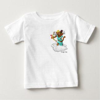 Valentine's Day Chocolate Brown Cupid Cat Baby T-Shirt