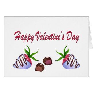 Valentine's Day Chocolate Covered Strawberries Card