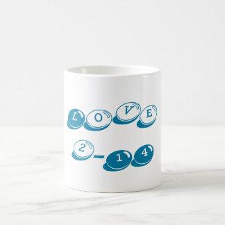 Valentine's Day Classic Love Mug Blue Candy Bits