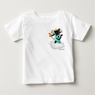 Valentine's Day Coal Black Cupid Cat Baby T-Shirt