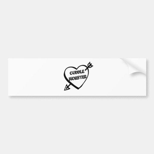 Valentine's Day Cuddle Monster Bumper Sticker