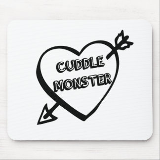 Valentine's Day Cuddle Monster Mouse Pad