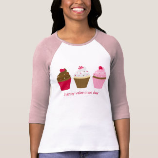 Valentines Day Cupcakes Custom T-Shirt