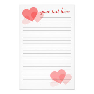 Valentine's Day Customised Stationery