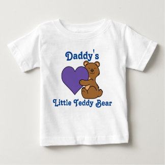 Valentine's Day Cute Brown Bear with Purple Heart Infant T-Shirt
