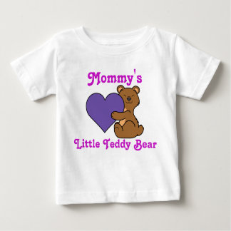 Valentine's Day Cute Brown Bear with Purple Heart T-shirts