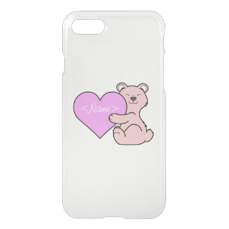 Valentine's Day Cute Pink Bear with Heart iPhone 7 Case