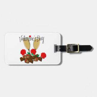 Valentine's day design bag tag
