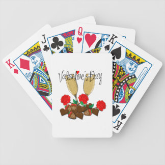 Valentine's day design bicycle playing cards