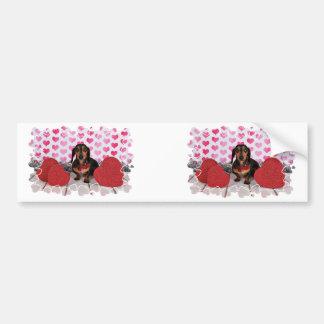 Valentine's Day - Dexter - Dachshund Bumper Sticker