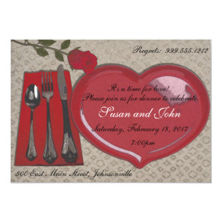 Valentine's Day Dinner Invitation