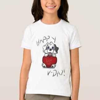 Valentine's Day Dog Cartoon Shirt