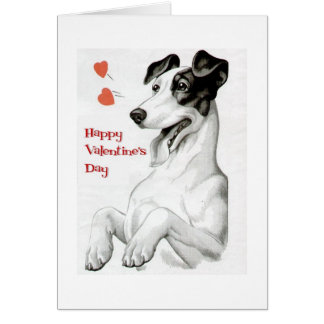 Valentines Day Dog Note Card
