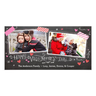 Valentine's Day Doodles with Tape Photo Cards