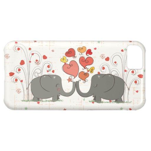 Valentine's Day Elephants iPhone 5C Case