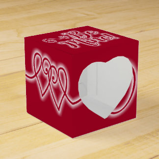 Valentine's Day Favor Box Scrolling Hearts Be Mine