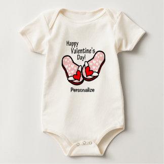 Valentine's Day Flip Flops Baby Bodysuits