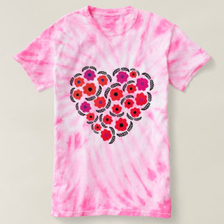 Valentines day floral t shirt