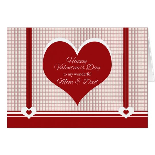 Valentine's Day for Mum and Dad Card