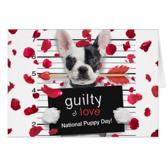 Valentine's day french bulldog card