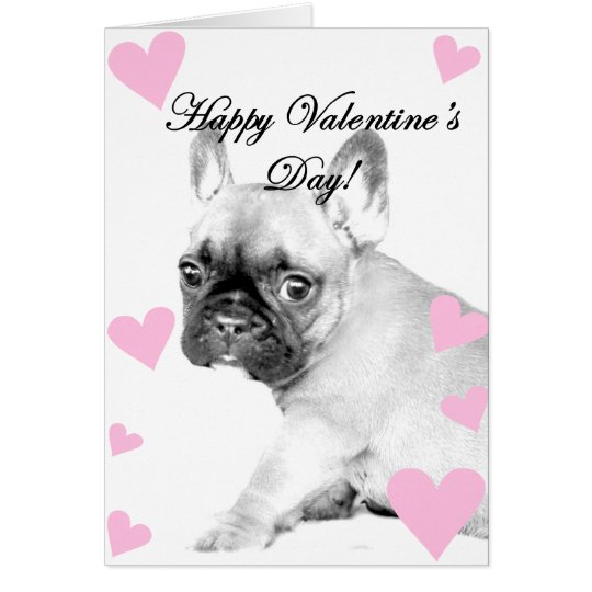 Valentine's Day French Bulldog Card