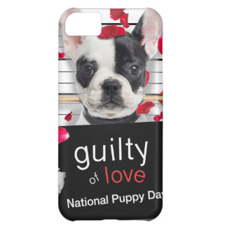 Valentine's day french bulldog iPhone 5C case