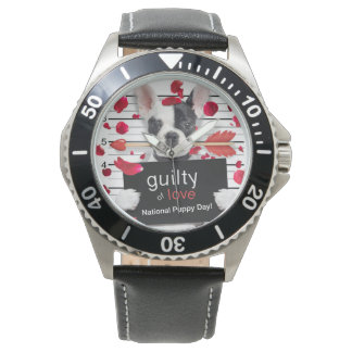 Valentine's day french bulldog watch