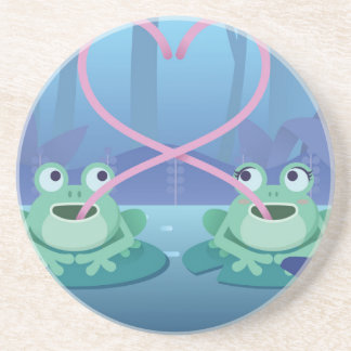 valentines day frog lovers coaster
