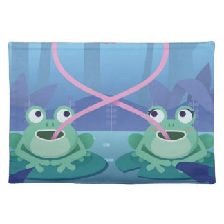 valentines day frog lovers placemat