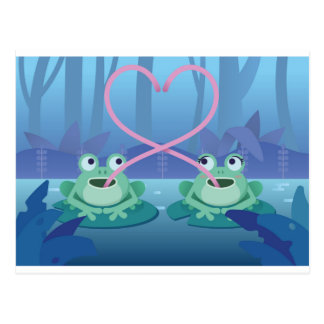 valentines day frog lovers postcard