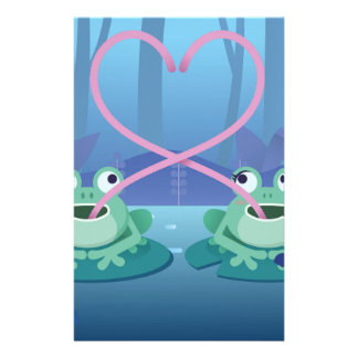 valentines day frog lovers stationery