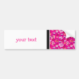 Valentines Day Fruit Pastry Pattern Bumper Sticker