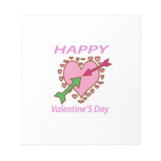 Valentine's day Gift Romantic Heart n Arrows fun Notepad