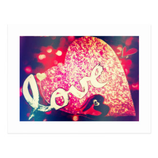 Valentine's Day Gift Sparkly Hearts Love Postcards