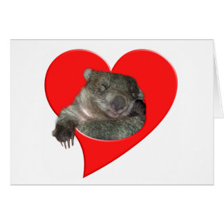 Valentine's Day Gifts, Wombat Love! Greeting Card