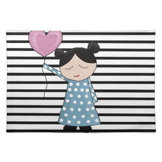 Valentines day girl - design placemat